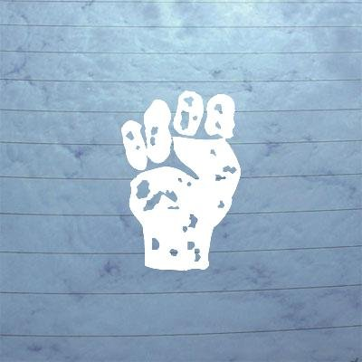 e Against The Machine Laptop Decor White Die Cut Vinyl Wall Sticker Decal Macbook Bike Car Art ()