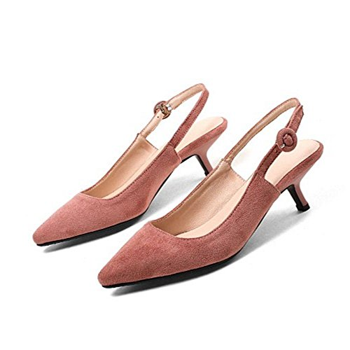 COOLCEPT Damen Slingback Pumps Kitten Heel Pink-03