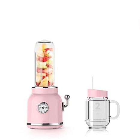 Love House Juicer De La Fruta Blender,Mezclador De Licuadora Batidora Retro Portátil Jugo Personal