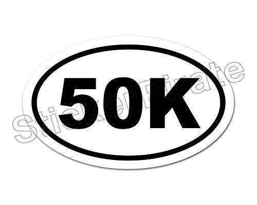 * Oval Euro Car Magnet 50K Marathon Distance Runner Magnetic Bumper (Oval Car)