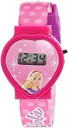 Mattel Barbie Kid's BAR004T Digital Display Quartz Pink Watch Set