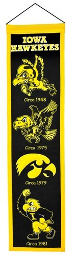 Iowa Hawkeyes Official NCAA 8 inch x 32 inch Heritage Banner Flag by Winning Streak by Caseys