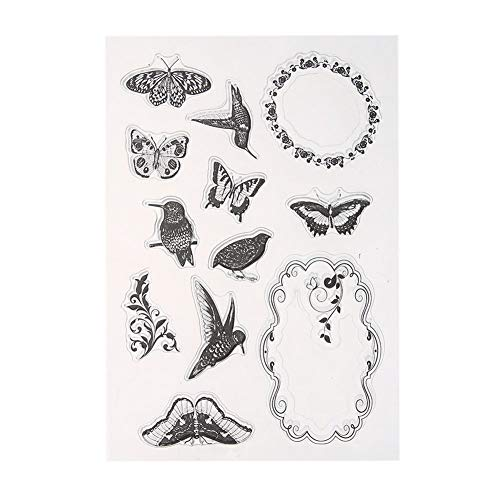 Clear Stamps - 16cm X 11 Cm Transparent Clear Stamp Scrapbooking Card Making Decoration - Art Inkadinkado Hero Shapes Trees Musical Notes Girls Dragon Impressions