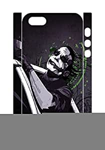 Hard plastic back case cover skin protective with Joker,Iphone 5 5S cases,Tribal Print Picture Pattern Painting Design -(White 3D).