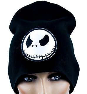 fbdfa6e8bfd Evil Grin Jack Skellington Beanie Knit Cap Goth Clothing Nightmare Before  Christmas