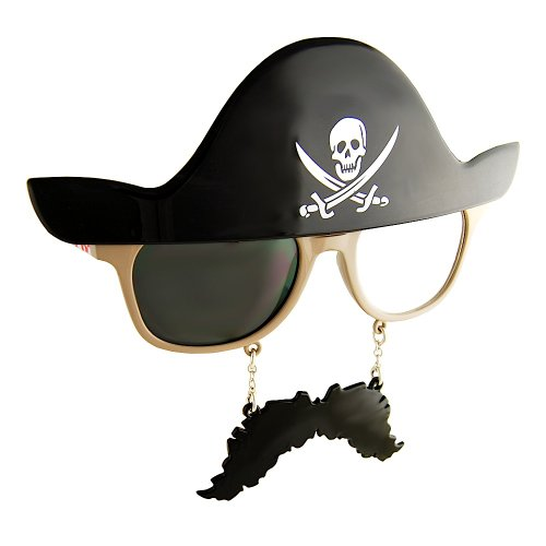 Sunstaches Pirate Sunglasses (Walk The Plank Pirate Costume)