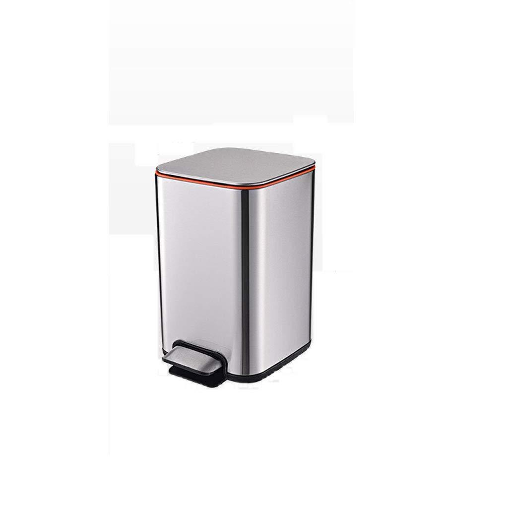 LINGZHIGAN ステンレススチールペダルゴミ缶家庭リビングキッチンオフィスバスルーム大容量ごみ箱 (色 : シルバー しるば゜) B07KV1434H シルバー しるば゜