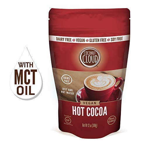 Coconut Cloud: Vegan, Dairy-Free Instant Hot Cocoa Mix | Delicious, Rich & Creamy ~ Made from Premium Coconut Powdered Milk + MCT Oil, Just Add Water, (Large Resealable Pouch), 12oz ()