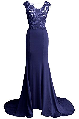 MACloth - Robe - Trapèze - Sans Manche - Femme -  bleu - 42