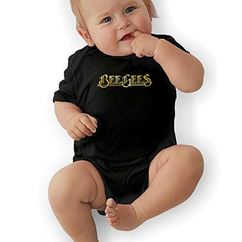 3DmaxTees Bee Gees Band Short Sleeve Infant Jumpsuit Cute Newborn Outfits Summer Bodysuits Black -