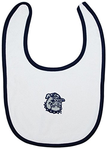 (Georgetown University Jack the Bulldog Newborn Infant Baby Embroidered Bib)