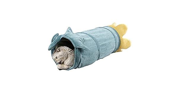 25 cm x 56 cm Tunel Gatos Adultos para Gato Cachorro Gatito Conejo Rojo BerryChips Tubo de T/únel de Gato Plegable de Invierno con Papel Arrugado y Campana