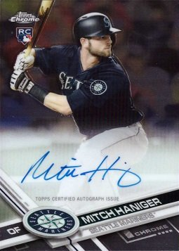 2017 Topps Chrome #RA-MH Mitch Haniger Certified Autograph Baseball Rookie Card