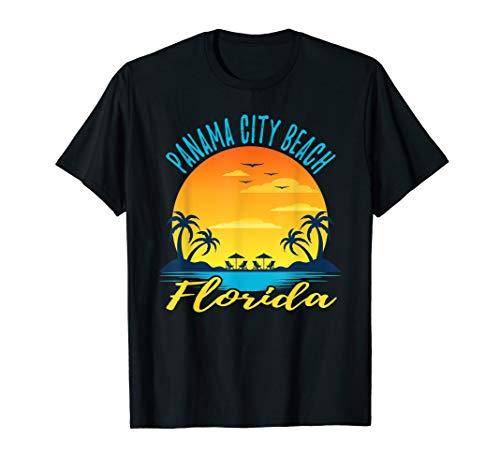 Panama City Beach Florida Sunset Palm Trees Ocean T-Shirt