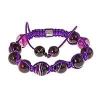 Royal Diamond Deep Purple Beaded Shamballa Fashion Bracelet