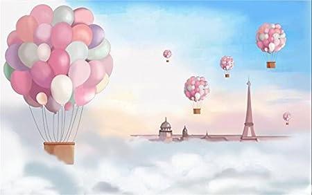 3d Fond D écran Photo Papier Peint Personnalisé Mural Enfants Chambre Rêve Nuage Feu Ballon Peinture Canapé Tv Fond D écran Pour Les Murs 3 D 200x140 Cm Amazon Fr Bricolage