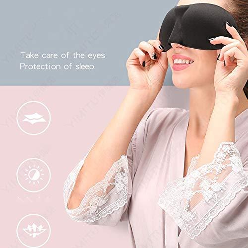 die schlafen VCB 3D Stereo Shading Schlafmaske M/änner und Frauen um Erm/üdung der Augen zu lindern schwarz