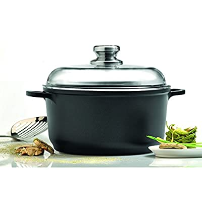 "Eurocast/Berghoff Professional Cookware 8"" 2.6L Stock Pot with Glass Lid"