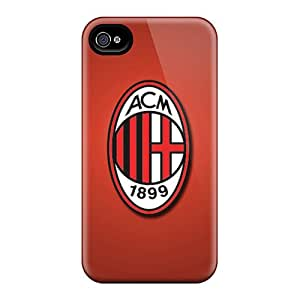 Iphone 6 DEM10544hxkZ Special Colorful Design Ac Milan Skin Shock Absorbent Cell-phone Hard Covers -AlainTanielian
