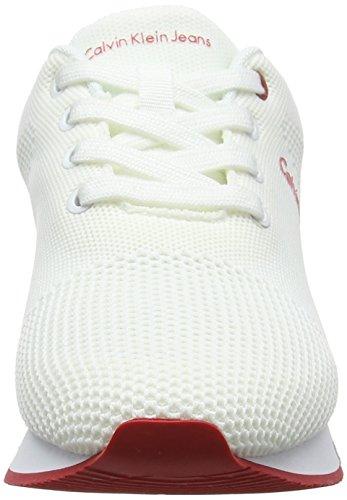 wht Tada Sneakers Basses Mesh Klein Femme Jeans Calvin 000 Blanc q87vfn