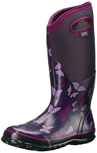 Bogs Women's Classic Butterflies Snow Boot, Eggplant Multi, 8 M US by Bogs