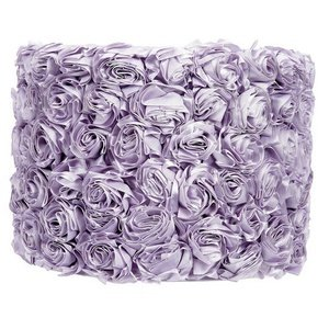 Rose Garden Drum Lamp Shade Color: Lavender