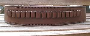Brown Genuine Leather .38 Caliber Cartridge Gun Belt (34)