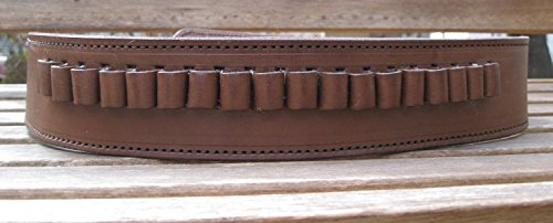 Country Western USA Brown Genuine Leather .45 Caliber Cartridge Gun Belt (40)