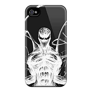 Tpu Case Cover Compatible For Iphone 4/4s/ Hot Case/ Carnage Sketch White