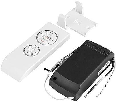 Télécommande de ventilateur Kit Contrôle à distance sans fil universel 4 temps 3 vitesses pour Ventilateur et Lampe de plafond avec Connecteur