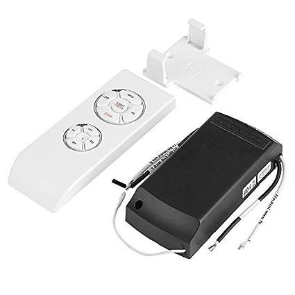 Control Remoto Ventilador Techo 4 Tiempos 3 Velocidades Mando a Distancia Ventilador Techo Universal Inalámbrica Blanco