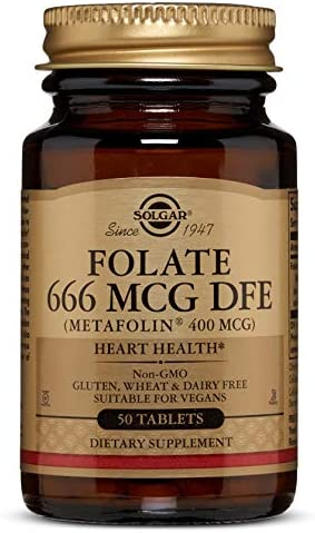 Solgar Folato (en forma de Metafolin) 400 µg Comprimidos - Envase ...