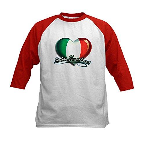 (Royal Lion Kids Baseball Jersey Italian Sweetheart Italy Flag - Red/White, Medium (10-12))