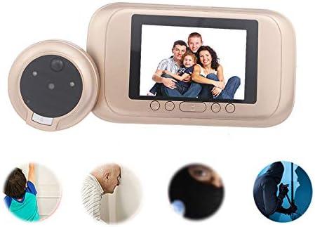 """ドアのピープホールカメラドアベルビデオ3.5"""" ドアのビデオ・アイ・セキュリティの自動録音でモーション検知ビデオ通話"""