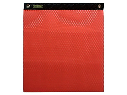 Oversize Warning Products - Heavy Duty Grommet Warning Flag 12 Pack (Org) by Oversize Warning Products, Inc.