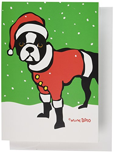 Nouvelles Images XDB 500 Holiday Boxed Note Card Set - Boston Terrier Santa, Marc Tetro (XDB 500)