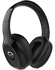 SoundPEATS Bluetooth Kopfhörer Over Ear Kopfhörer 20 Stunden Spieldauer kabellos & 3,5-mm-Audioeingang on Ear Headset Kabelgebundene Kopfhörer Bass Stereo Mikrofon Kompatibel für Samsung/iPhone/Huawei