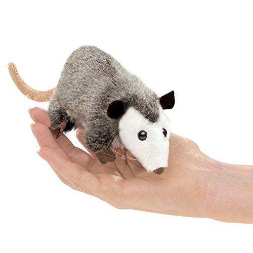 Folkmanis Mini Opossum Finger Puppet Plush by Folkmanis
