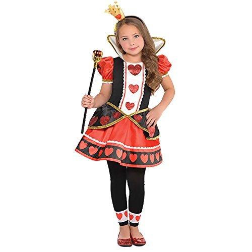 Amscan Girls Queen of Hearts Costume - Medium