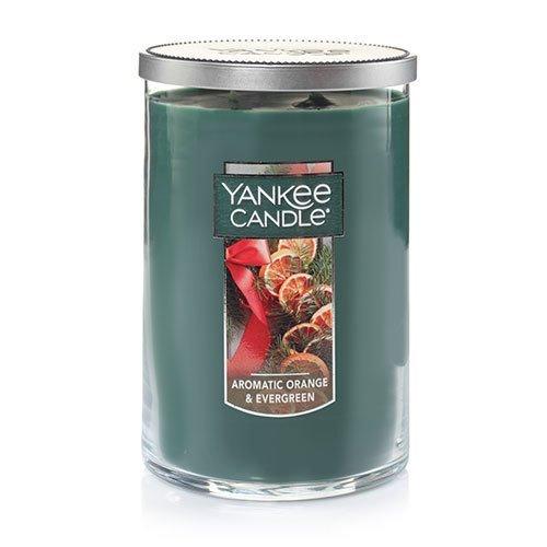Yankee Candle Large 2-Wick Tumbler Candle, Aromatic Orange & Evergreen