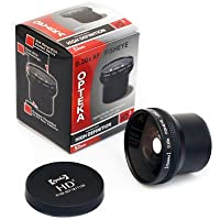 Opteka HD2 0.20X Professional Super AF Fisheye Lens for Canon EOS Digital Rebel XT, XTi, XS, XSi, T3i, T4i, T5i, T6, T6i, SL1, 1D, 5D, 7D, 60D, 70D, 77D, 80D Digital SLR Camera