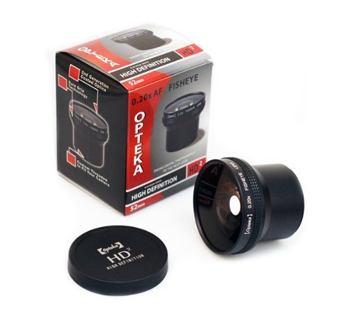 Opteka HD2 0.20X Professional Super AF Fisheye Lens for Nikon N90s, N80, N75, N65, N55, F5, F6, Film SLR Camera by Opteka