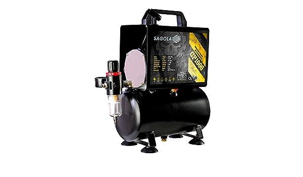 Sagola 10620701 - Compresor piston cp1000 220/50 1/6 c.v.: Amazon.es: Bricolaje y herramientas