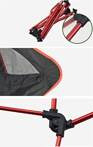 YANJ Camping Chairs- Heavy Duty 100kg Capacity,Compact,Portable Outdoor Chair With Carry Bag For Outdoor Activities,Beach,Backpacking (Orange