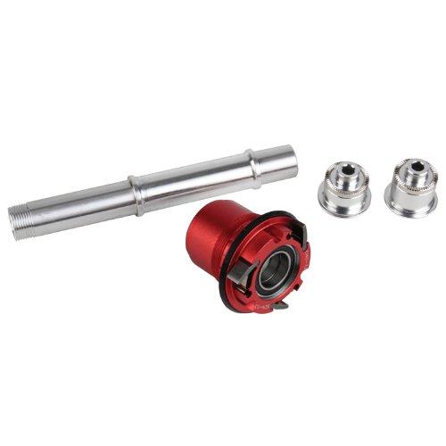 NoTubes Conv. Kit XX1 XD für Schnellspa für 3.30 1 auf Typ 2 Inkl. Endkappen, Freilauf, Achse, ZH0192 Laufräder, rot, QR