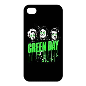 Green Day Rock Band Pattern Design Solid Rubber Customized Cover Case for iPhone 4 4s 4s-linda735