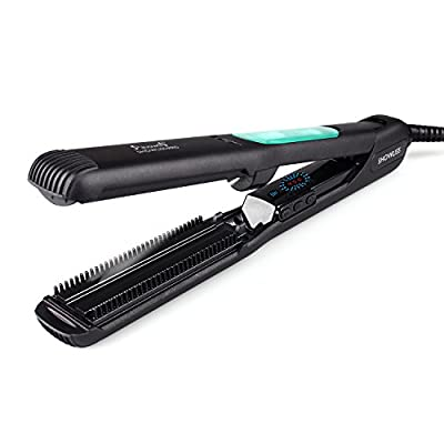 Flat Iron, Hair Straightener, Hair Flat Iron Straightener with STEAM Technology & 5D heating Teeth