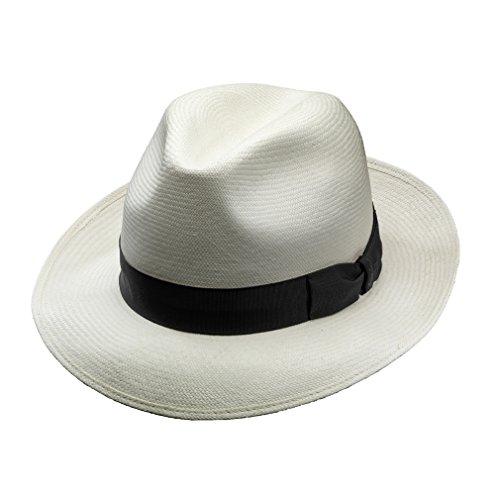 7d115dd4c63 Borsalino Quenca Fino Panama Hat - Med. Brim-BleachBlack-61 - Buy ...
