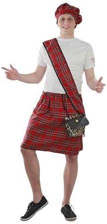 Foxxeo Traje Falda Escocesa Trajes de Carnaval de Escocia, Talla ...