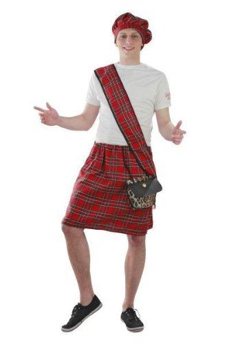 Foxxeo Traje Falda Escocesa Trajes de Carnaval de Escocia ...